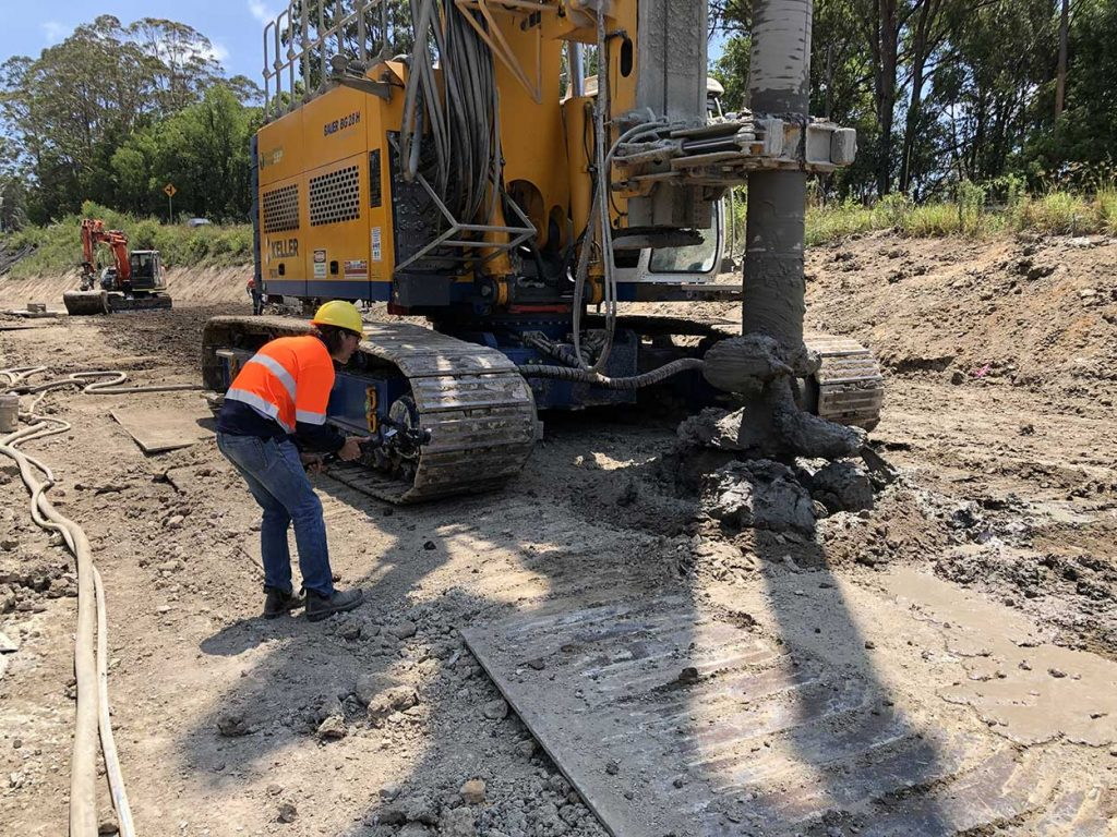 Me at work capturing a piling machine in action drilling.